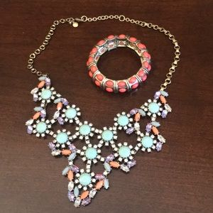 J crew bracelet and necklace